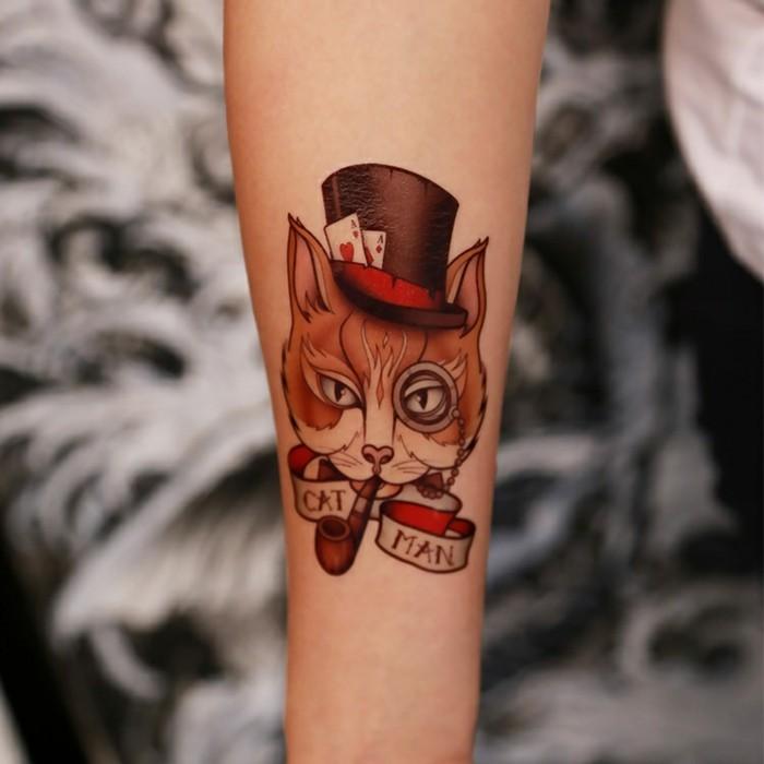 tatouage-poignet-bracelet-tatouage-hirondelle-poignet-chat-man-alice
