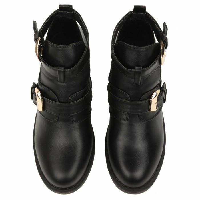 a560d9566a5c Bottine noir cuir femme - Labrocantederosalie.fr