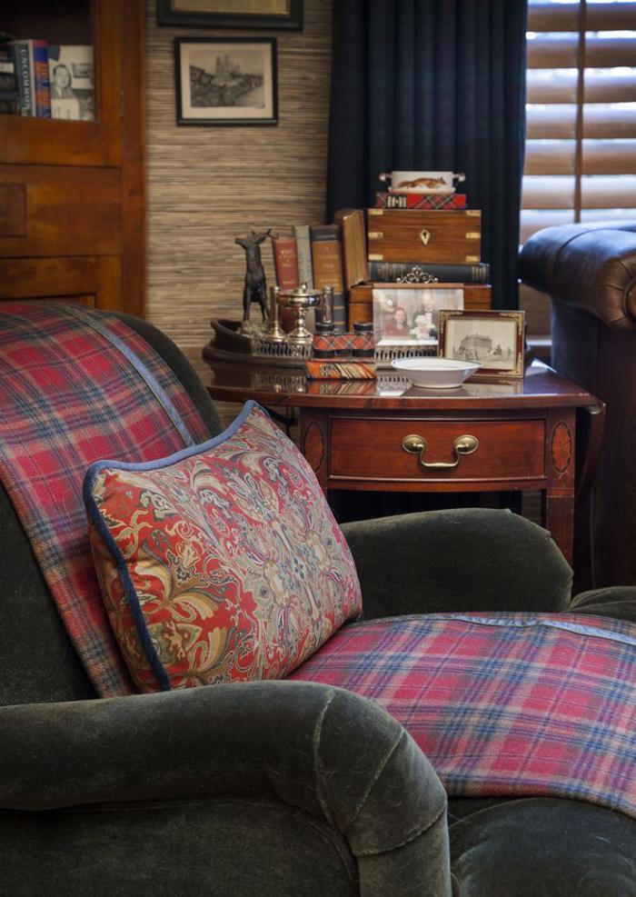 Id es d co avec le tissu cossais classique for Createur deco maison