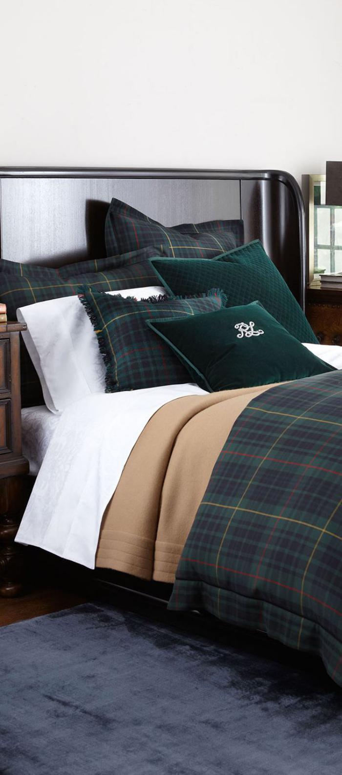 tissi-écossais-linge-de-lit-carrés-écossais