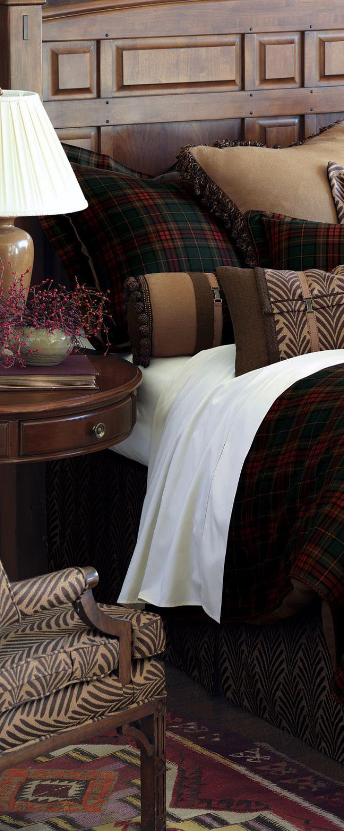 tissi-écossais-parure-de-lit-tissu-écossais
