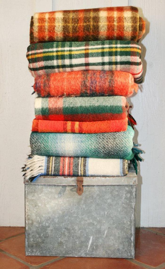 tissu-écossais-couvertures-cosy-et-belles-motifs-écossais