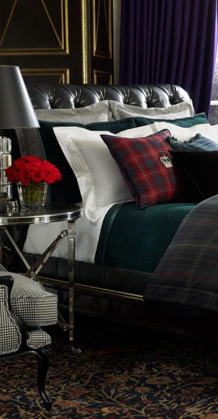 tissu-écossais-linge-de-lit-et-coussins-en-tartan-écossais