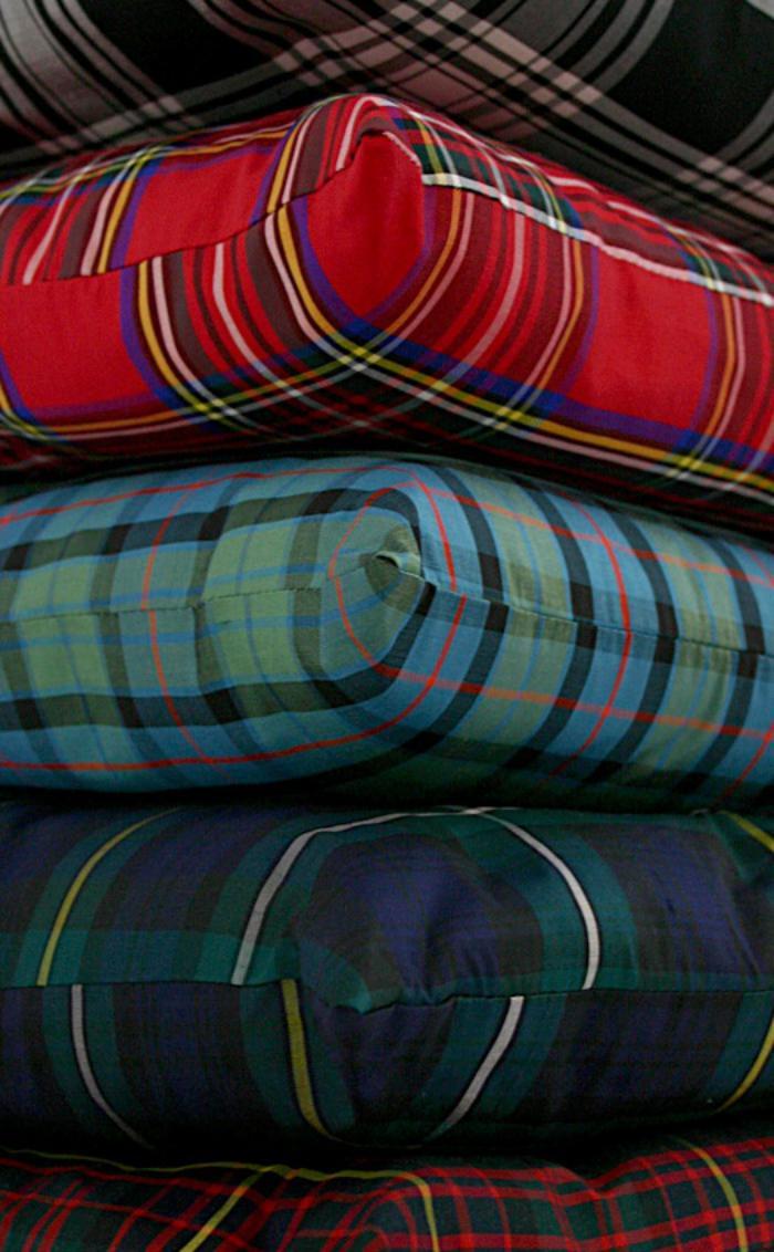 tissu-écossais-matelas-coussins-en-tartan-ecossais