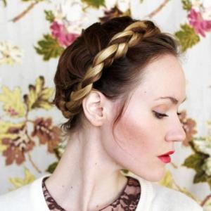 La coiffure tresse couronne - différents styles