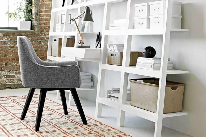 voir-fauteuil-scandinave-vintage-canapé-design-scandinave-etagere