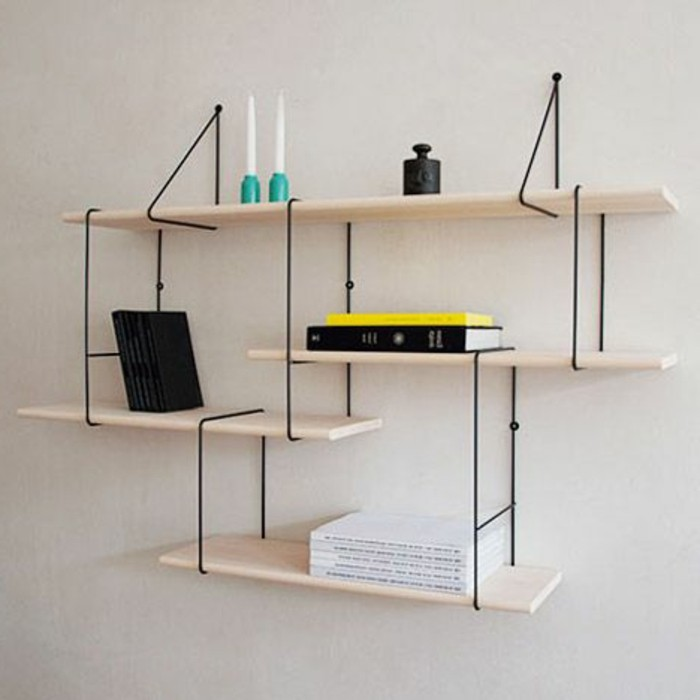L tag re biblioth que comment choisir le bon design - Etagere murale bureau ...