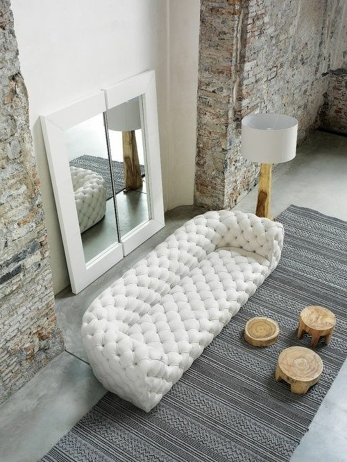 Le canap capitonn en 40 photos pleines d 39 id es for Canape chesterfield cuir blanc