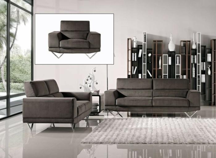 Le canap design italien en 80 photos pour relooker le salon for Salon gris beige et blanc
