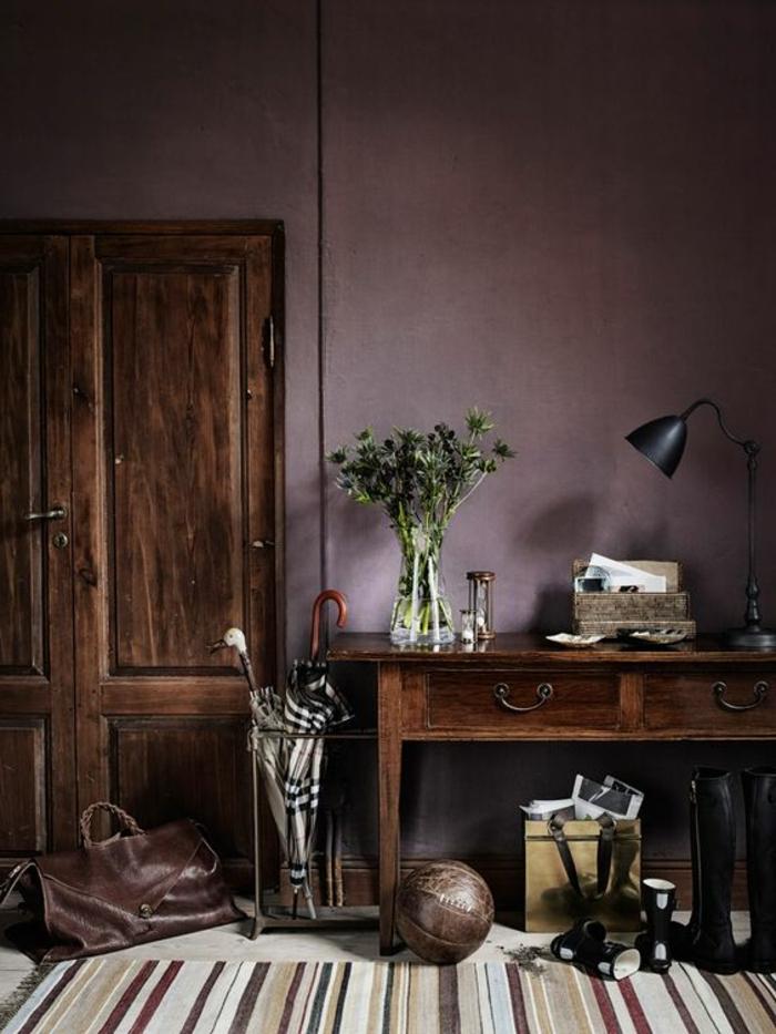 Gold Purple Orange Living Room