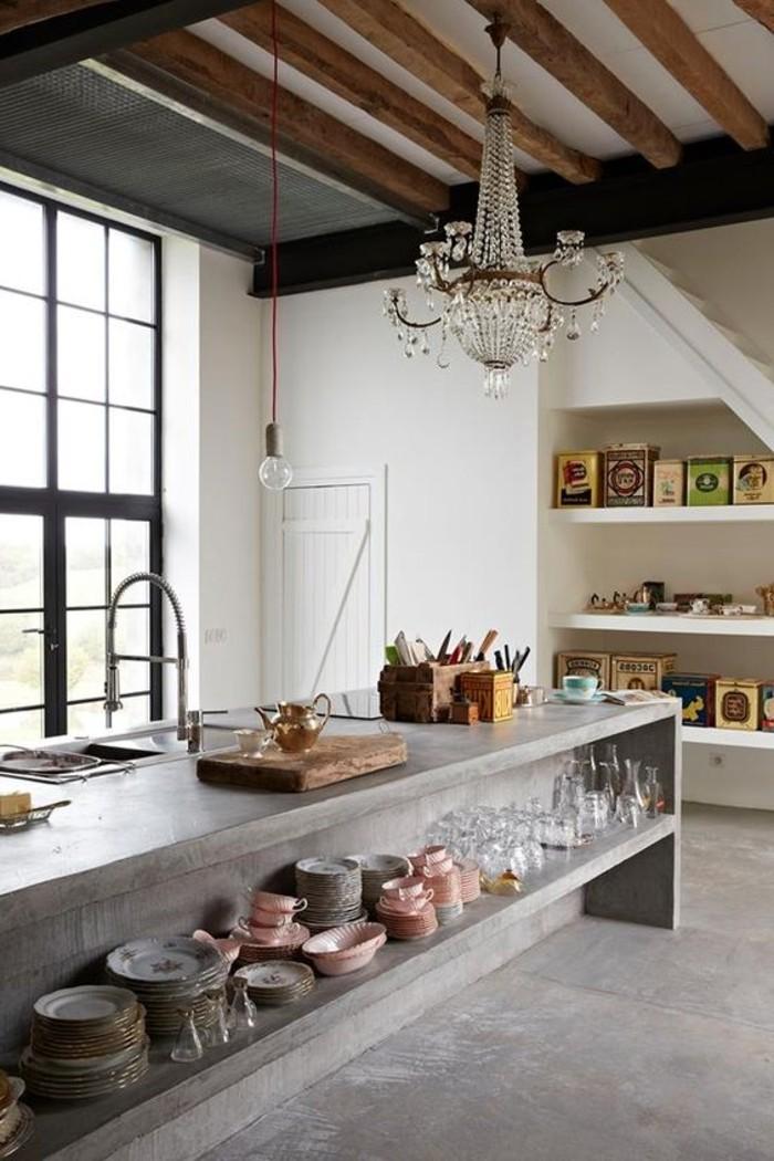 0-cuisine-beton-decoratif-plan-de-travail-béton-cire-sol-en-beton-gris-cuisine-sous-combles
