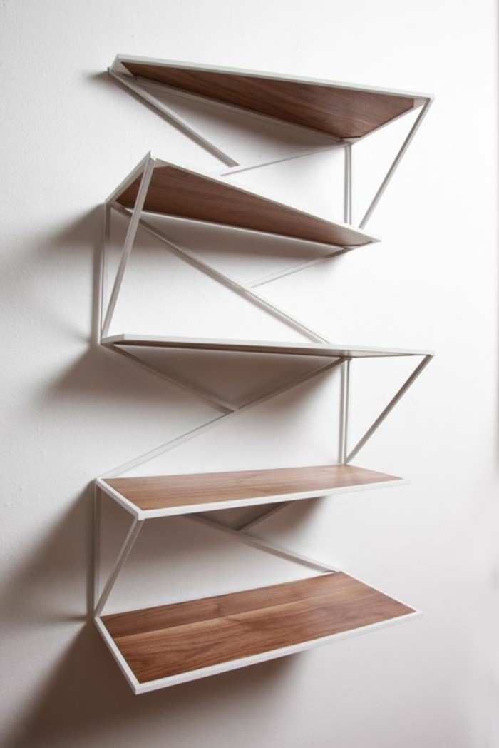 L tag re biblioth que comment choisir le bon design - Modele d etagere murale ...