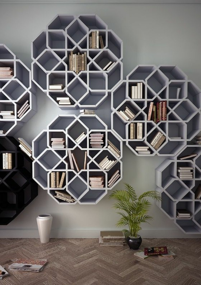 l tag re biblioth que comment choisir le bon design. Black Bedroom Furniture Sets. Home Design Ideas