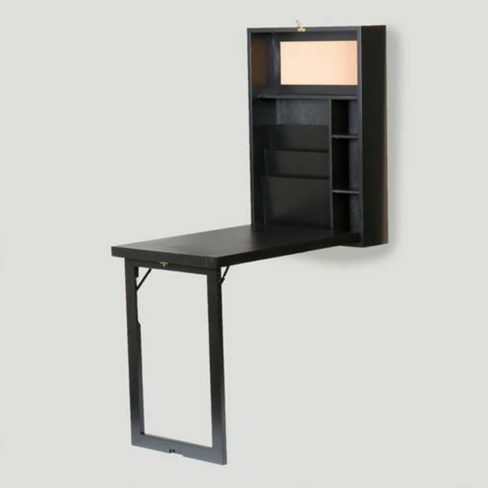 Bureau mural rabattable ikea for Meuble table escamotable