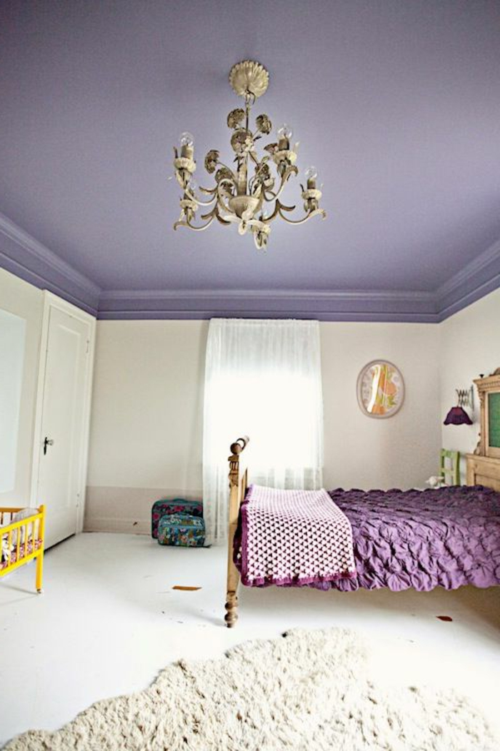 chambre mauve et blanc beautiful peinture chambre violet. Black Bedroom Furniture Sets. Home Design Ideas