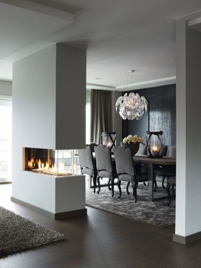 ... Gris : ... -lustre-design-pour-le-salon-gris-tapis-gris-sol-en-marron