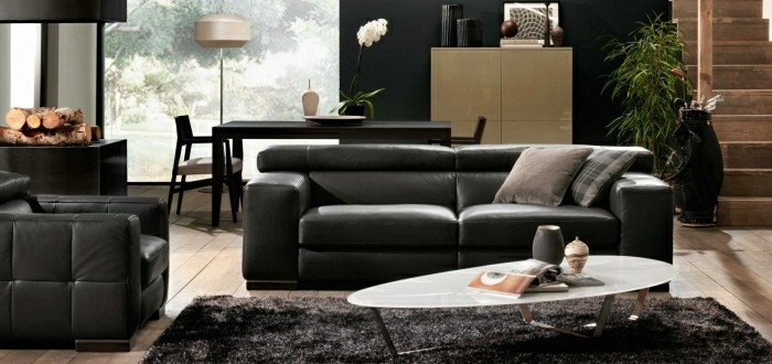 Le Canapé Design Italien En Photos Pour Relooker Le Salon - Canapé cuir noir design