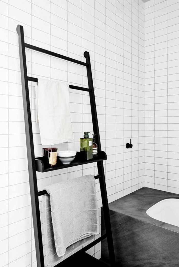Le porte serviette en 40 photos d 39 id es pour votre salle for Porte pour meuble salle de bain