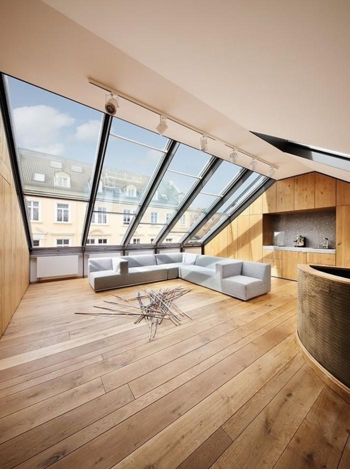 Parquet salon moderne for Salon parquet clair