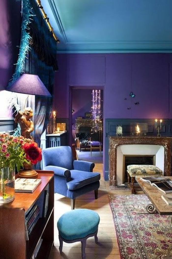 80 id es d 39 int rieur pour associer la couleur prune for Interieur baroque moderne