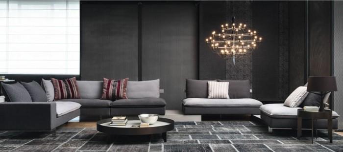 Le canap design italien en 80 photos pour relooker le salon - Salon canape gris ...
