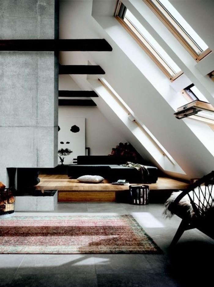 meuble sous pente de toit. Black Bedroom Furniture Sets. Home Design Ideas