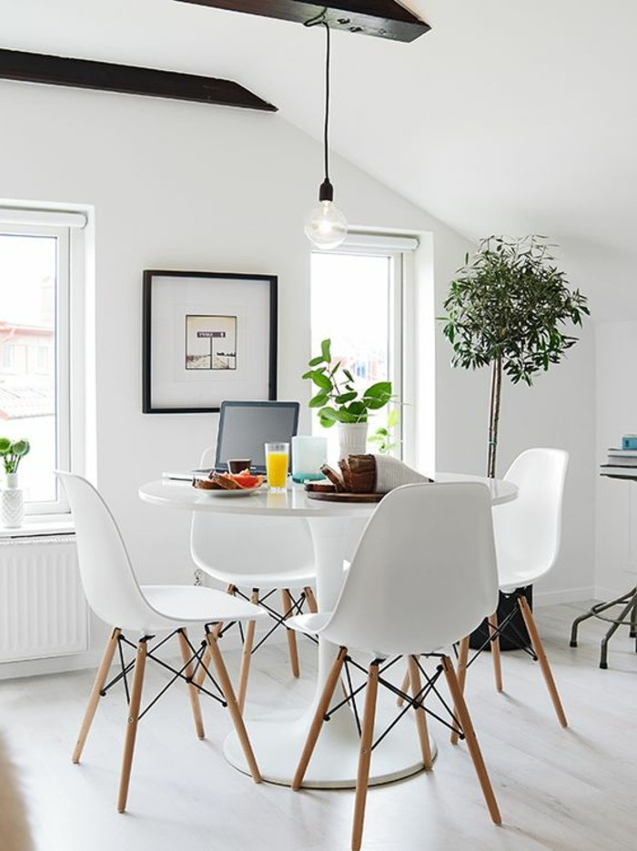 La meilleure table de salle manger design en 42 photos - Table ronde ikea blanche ...