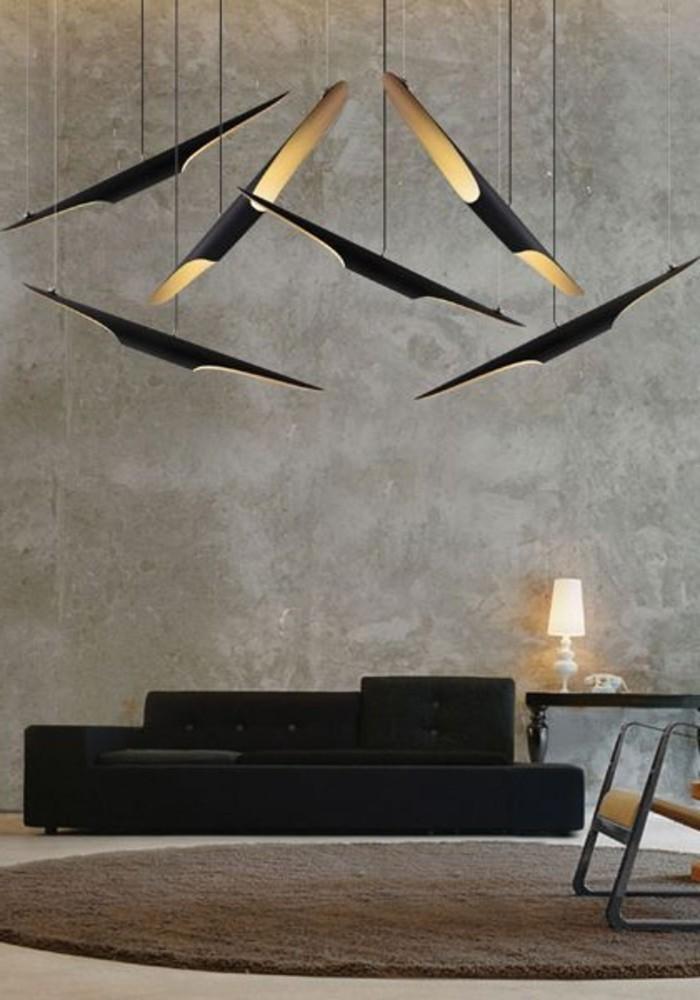 00-les-meilleures-lustres-design-pour-le-salon-chic-tapis-rond-de-couleur-marron