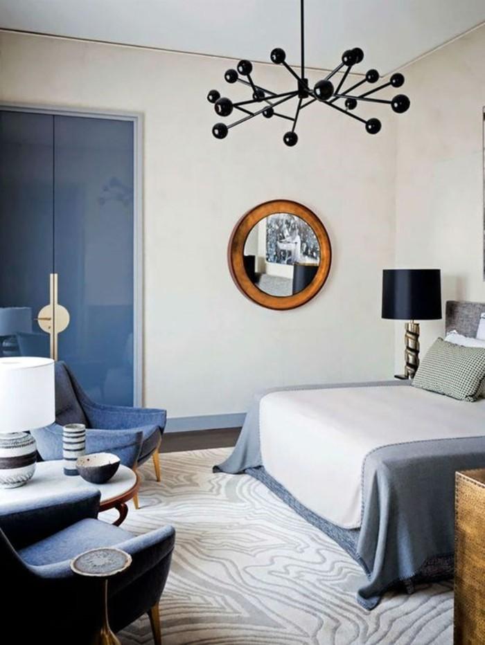 00-luminaires-leroy-merlin-pour-la-chambre-a-coucher-murs-bleus-meubles-bleus-foncés