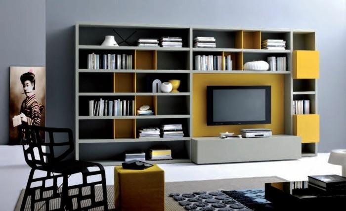 00-simple-bibliotheque-à-faire-soi-même-murs-gris-meubles-chic-interieur-moderne