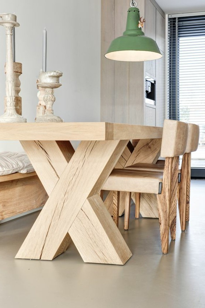 La meilleure table de salle manger design en 42 photos - Table bois massif design ...