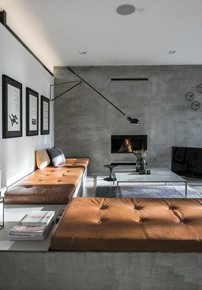1-interieur-chic-beton-decoratif-plan-de-travail-béton-cire-canape-en-cuir-marron