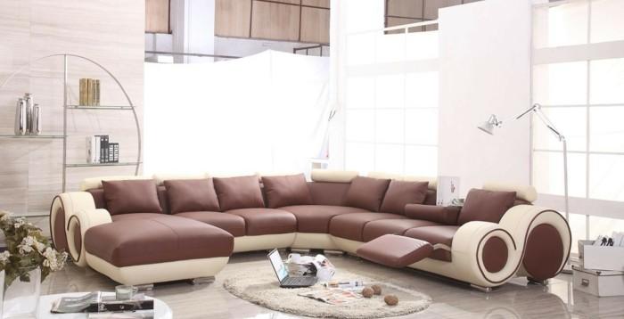 Le canap design italien en 80 photos pour relooker le salon - Canape cuir 2 couleurs ...