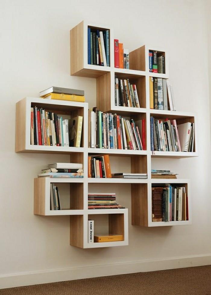 Biblioth?que Bois Clair : fabriquer une biblioth?que en bois clair, jolie d?coration murale