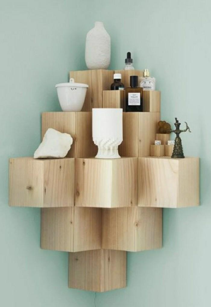 2-jolie-variante-pour-votre-etagere-murale-en-bois-clair-murs-bleus