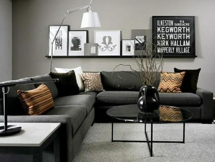 2-salon-chic-avec-moquette-castorama-gris-decoration-murale-meubles-noirs-canape-salon-noir