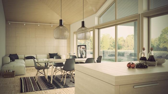 Aménagement-cuisine-déco-luminaires-suspension-luminaire-belle-photo