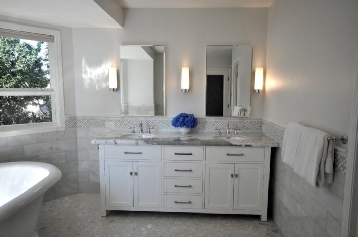 Armoire-de-toilette-IKEA-avec-lavabos-effet-marbre