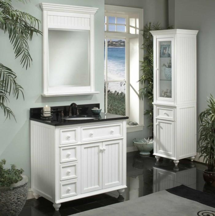 Armoire-de-toilette-IKEA-colonne-salle-de-bain-IKEA-ambiance-classique ...