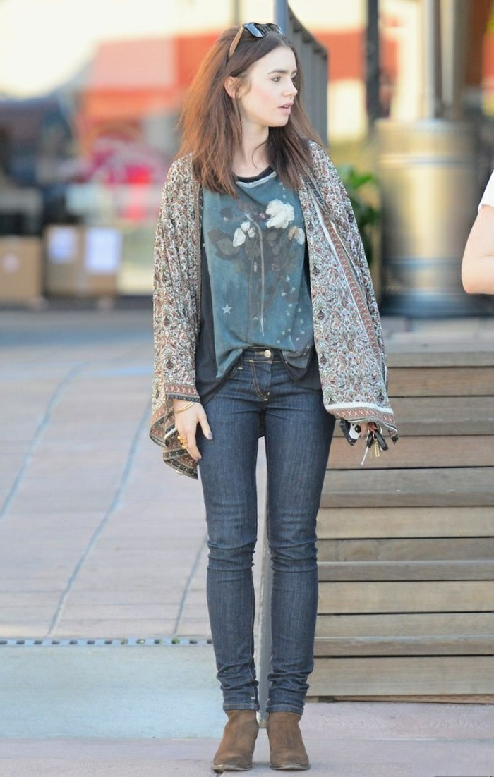 Belle-idée-tenue-de-jour-veste-kimono-style-bohème-chic-cool-automne
