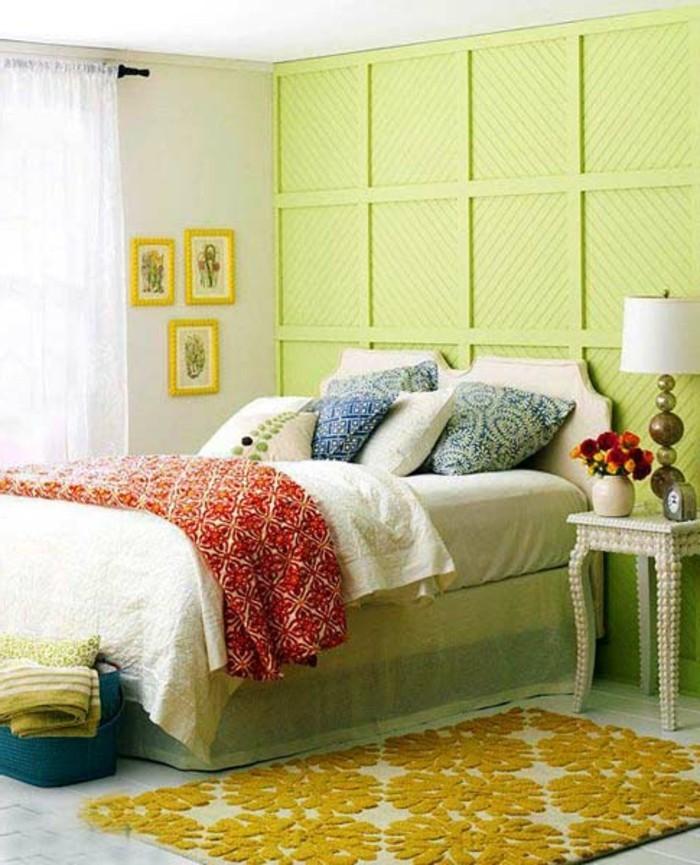 Cool-idée-pour-la-belle-couleur-chambre-à-coucher-décoration-murale-chouette-en-vert