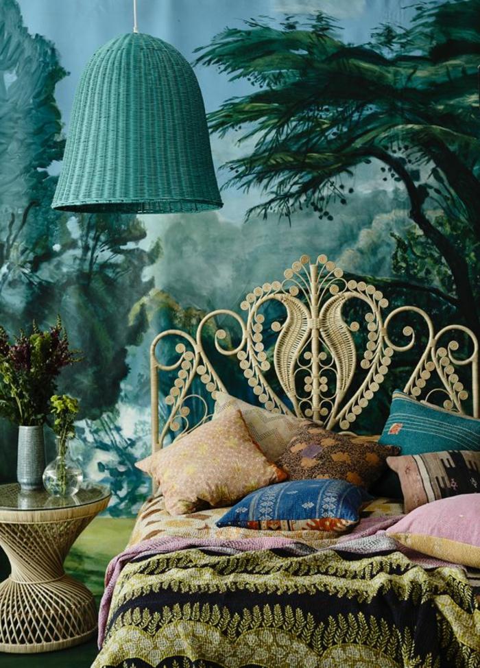 Couleur-chambre-à-coucher-adulte-idée-décoration-à-faire-soi-même-bleu-idee