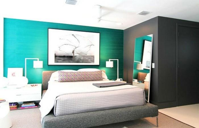 Couleur-pour-chambre-à-coucher-très-cool-idée-déco-belle-aménagement-moderne-bleu