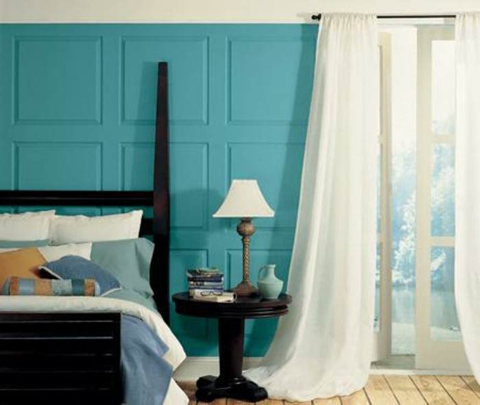 Déco-de-votre-chambre-à-coucher-couleurs-chaudes-idée-à-aménager-bien-rustique