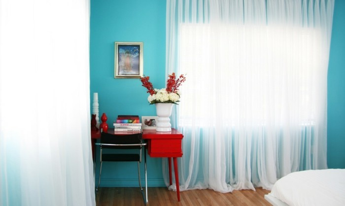 Les meilleures id es pour la couleur chambre coucher - Couleur bleu chambre ...