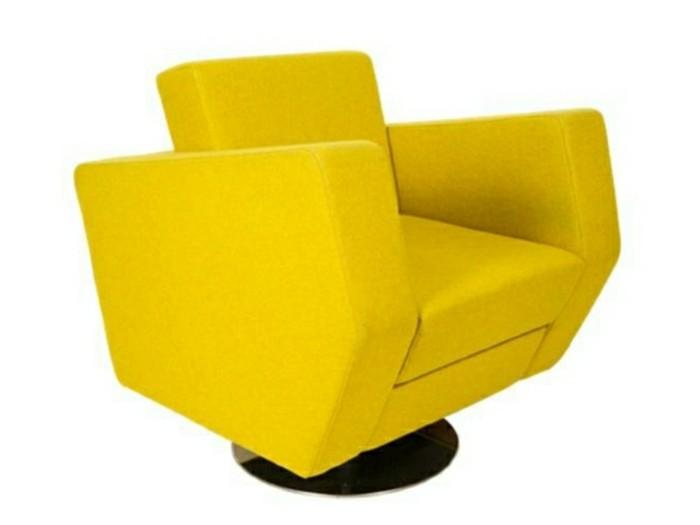 Fauteuil-relax-design-jaune-effet-cubique