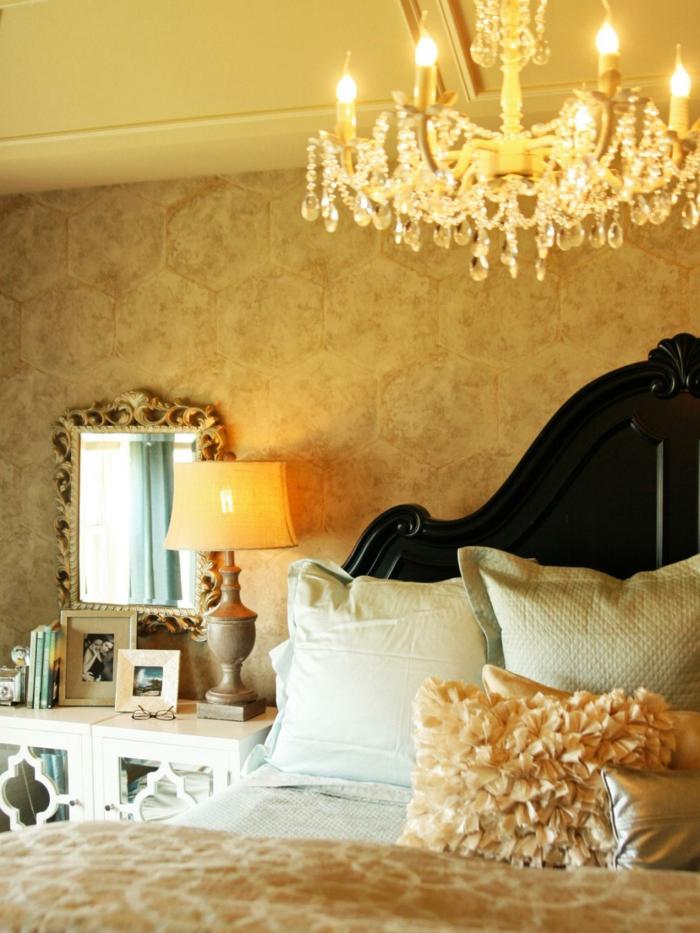 Huile-et-peinte-naturelle-couleur-tendance-pour-chambre-à-coucher-or