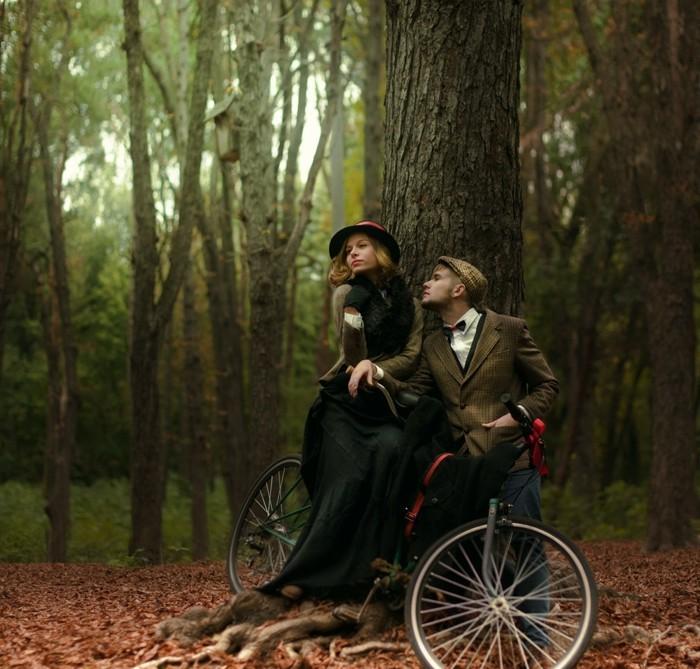 Image-retro-vélo-vintage-jolie-photographie-bicyclette-vintage-photo