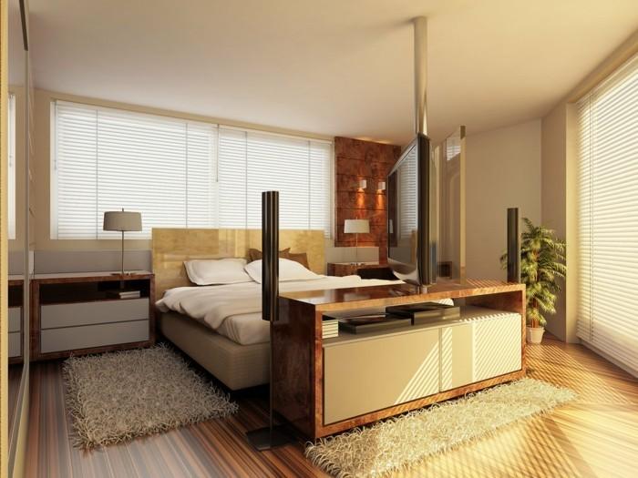 Intérieur-idée-déco-couleur-de-chambre-à-coucher-moderne-aménagement-blanc