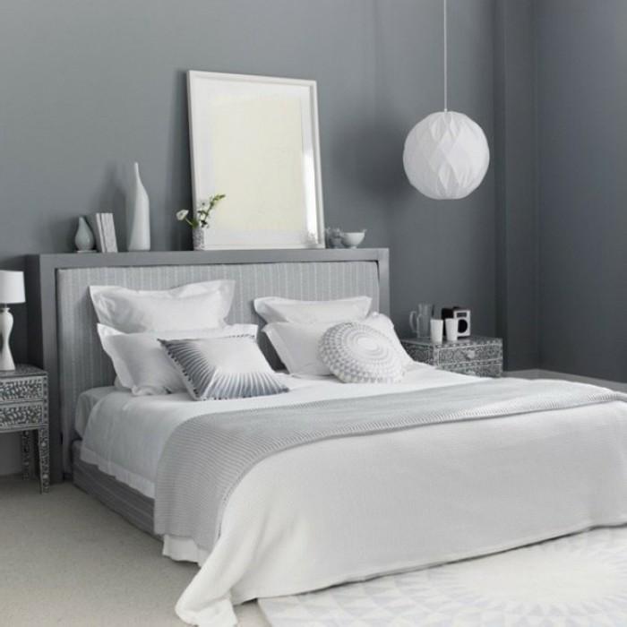 Les meilleures id es pour la couleur chambre coucher for Chambre gris et blanc